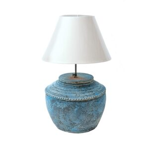 Cormorant blue table lamp