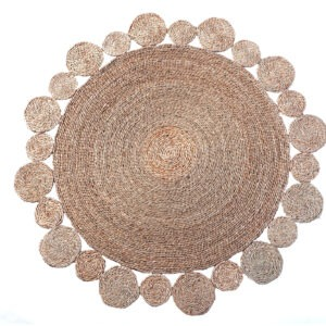 flower-shape-round-natural-rug